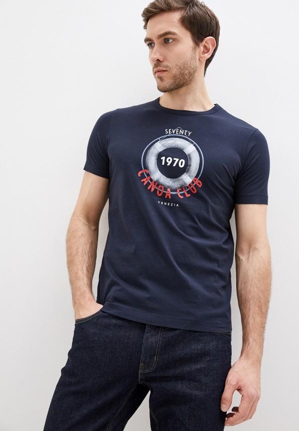 мужская футболка seventy, синяя