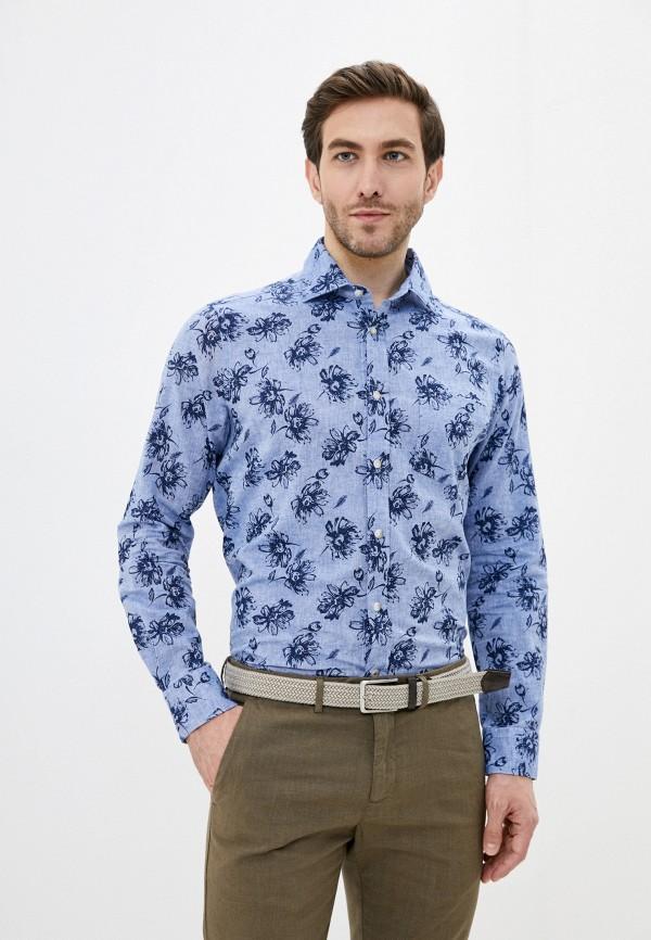 мужская рубашка с длинным рукавом seventy, голубая
