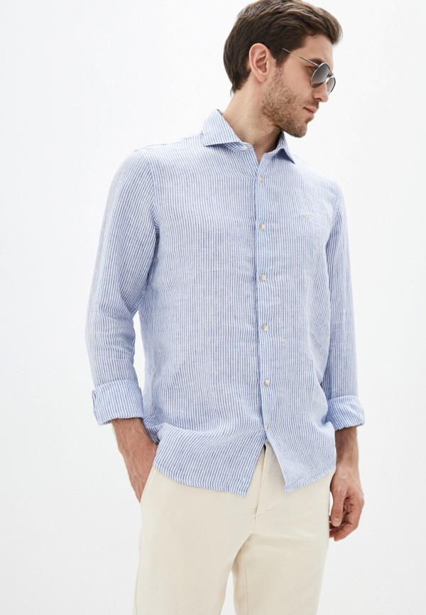 мужская рубашка с длинным рукавом seventy, синяя