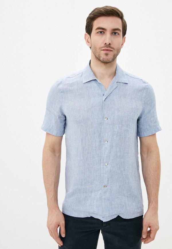мужская рубашка с коротким рукавом seventy, голубая