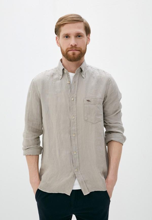 мужская рубашка с длинным рукавом seventy, бежевая