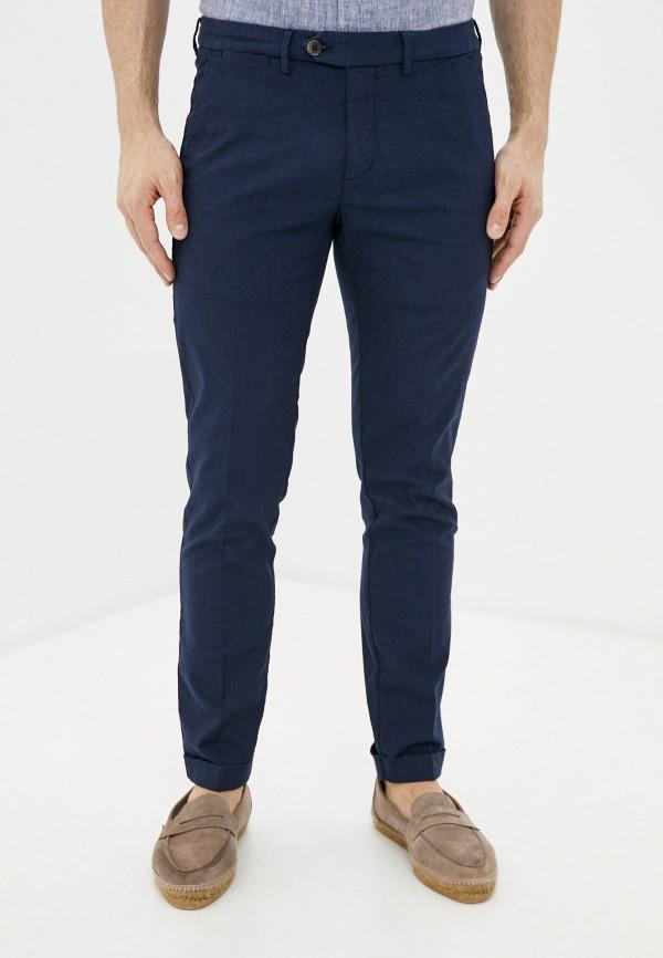 мужские зауженные брюки seventy, синие