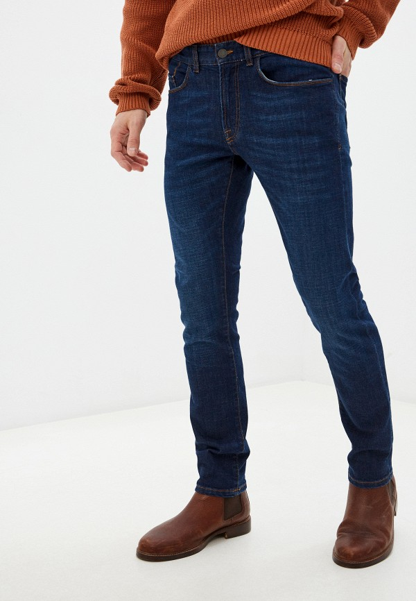 мужские зауженные джинсы seventy, синие