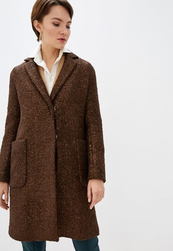 женское пальто seventy, коричневое