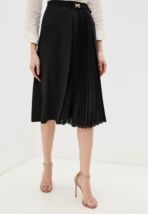 женская юбка-трапеции seventy, черная