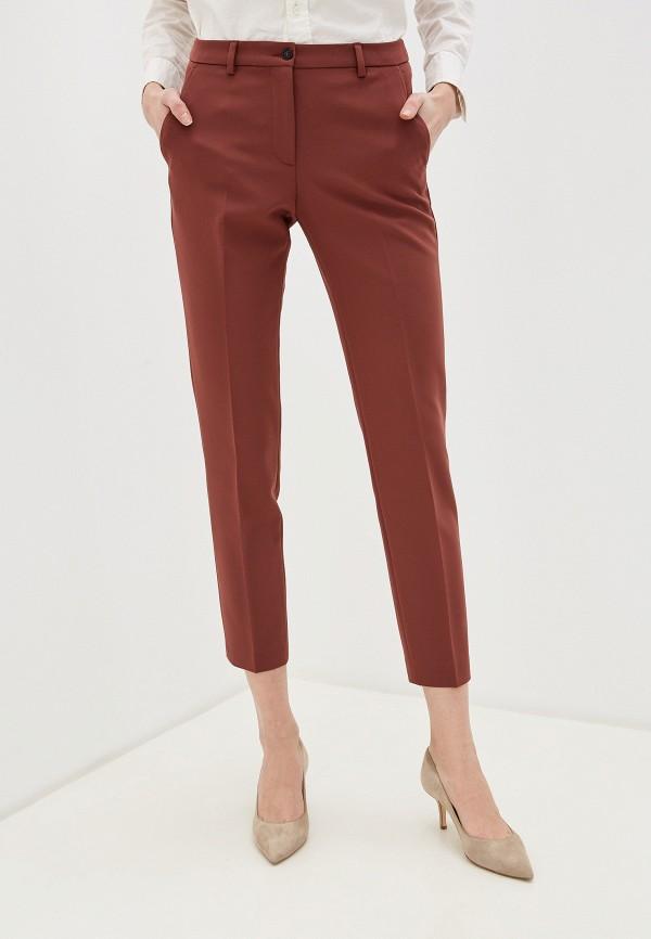 женские классические брюки seventy, коричневые