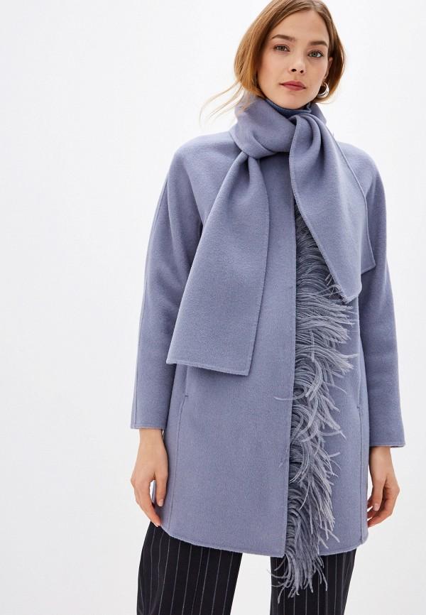 женское пальто seventy, голубое