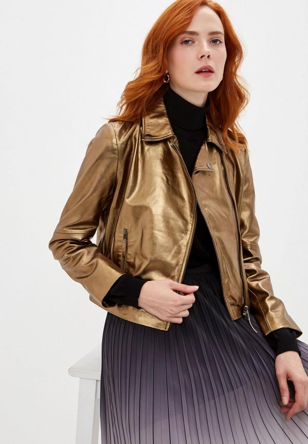 женская куртка seventy, золотая