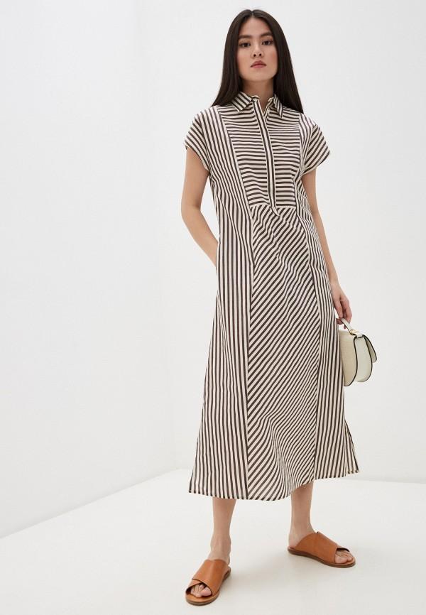 женское повседневные платье seventy, коричневое