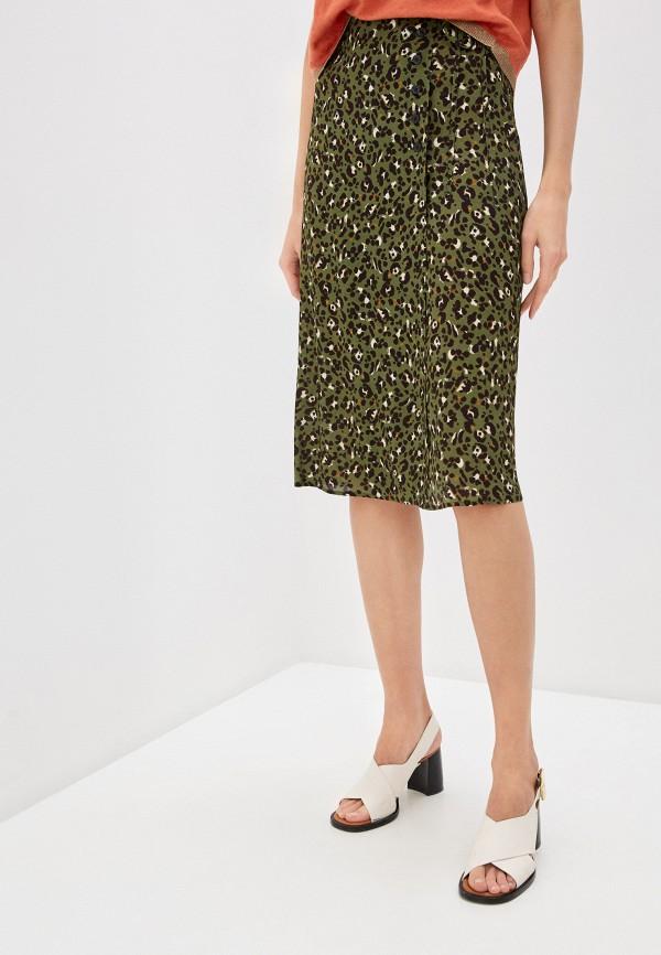 женская юбка-трапеции seventy, зеленая