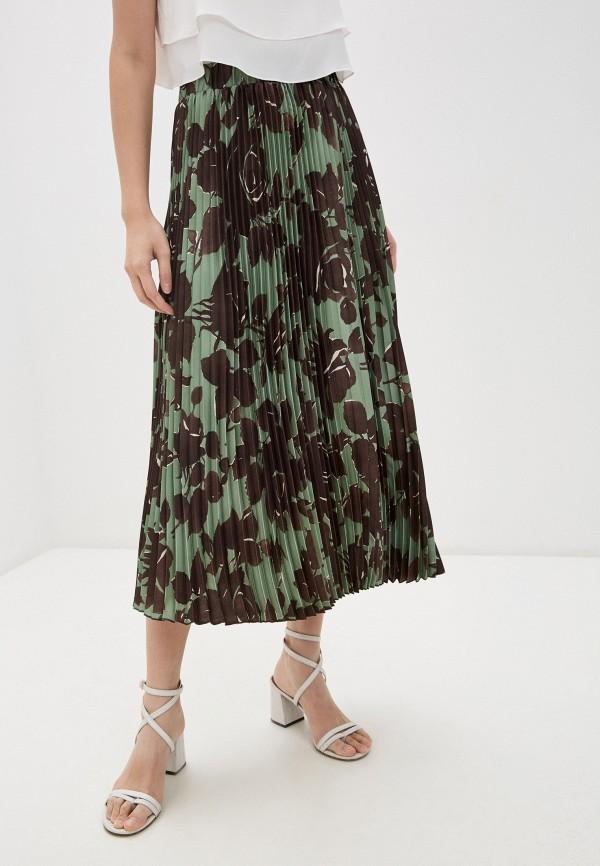 женская плиссированные юбка seventy, зеленая
