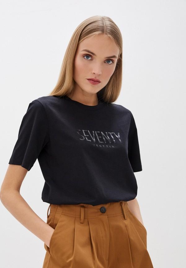женская футболка seventy, черная