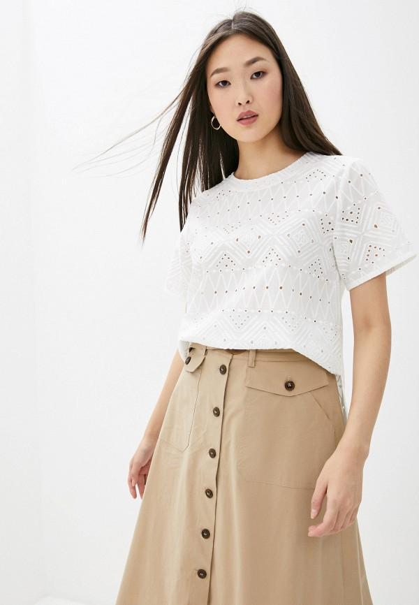 женская блузка с коротким рукавом seventy, белая