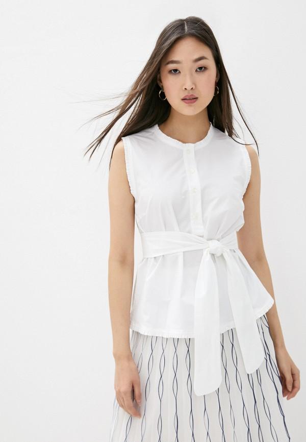 женская блузка без рукавов seventy, белая