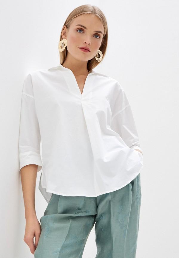 женская рубашка с длинным рукавом seventy, белая