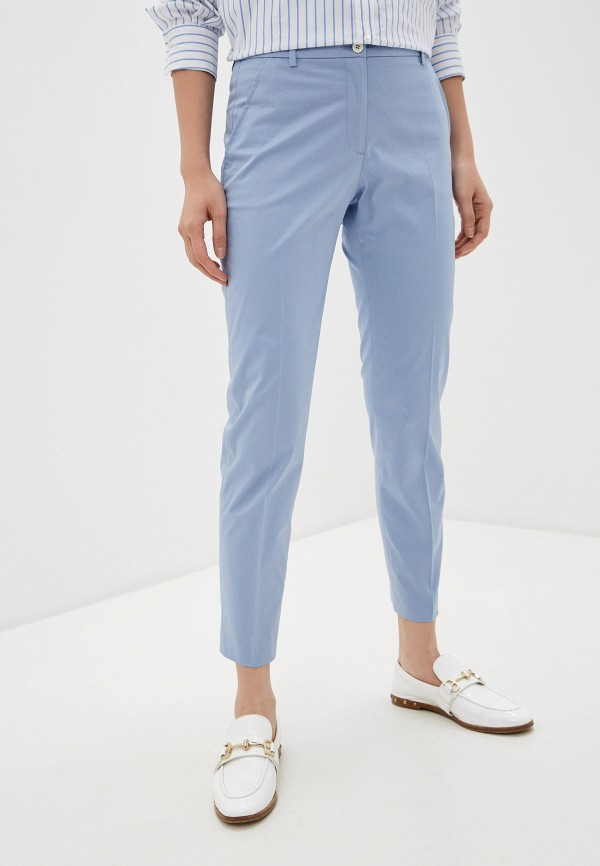 женские повседневные брюки seventy, голубые