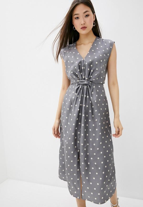 женское платье мини seventy, серое