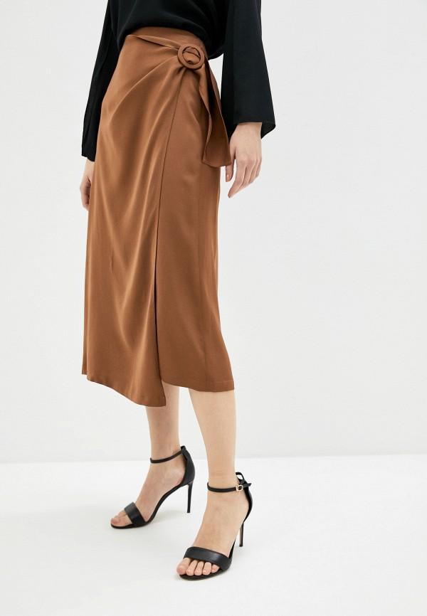 женская прямые юбка seventy, коричневая