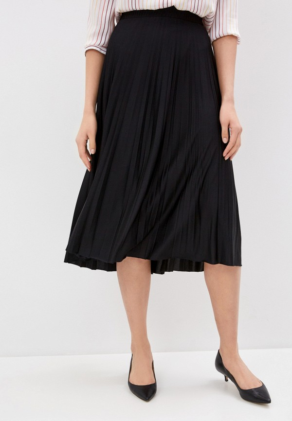 женская плиссированные юбка seventy, черная