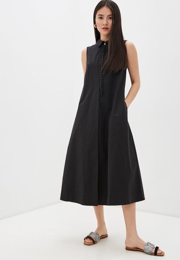 женское платье-рубашки seventy, черное