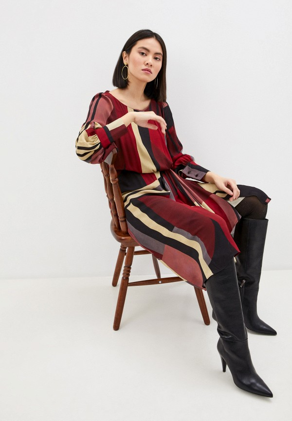 женское повседневные платье seventy, бордовое