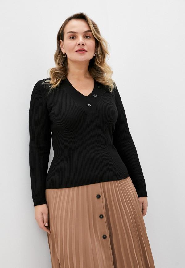 женский пуловер seventy, черный