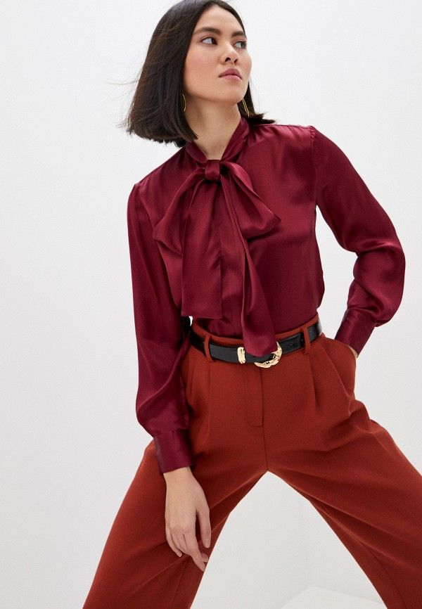 женская блузка seventy, бордовая