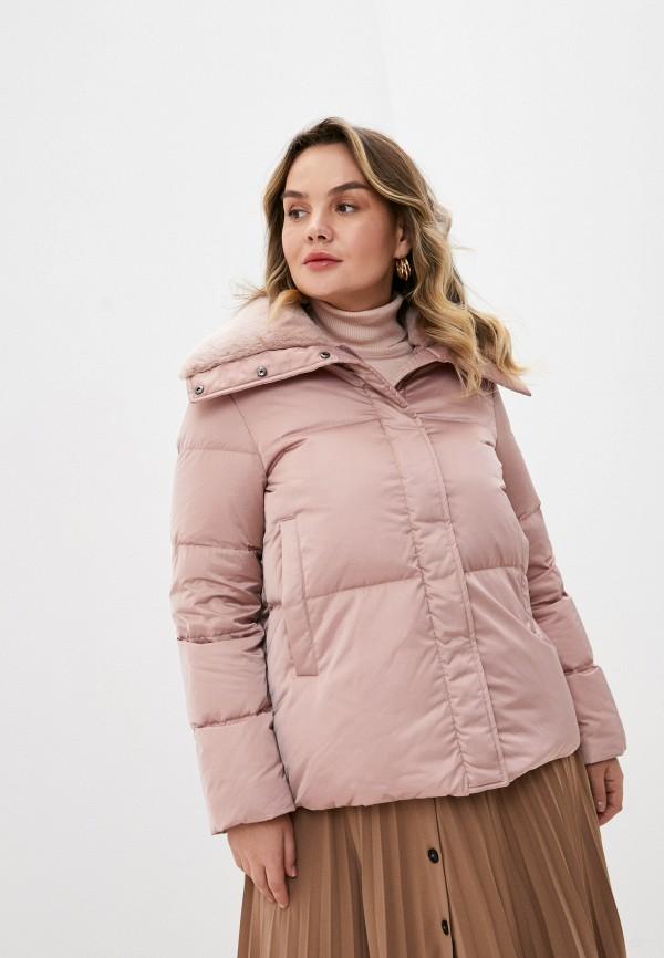 женский пуховик seventy, розовый