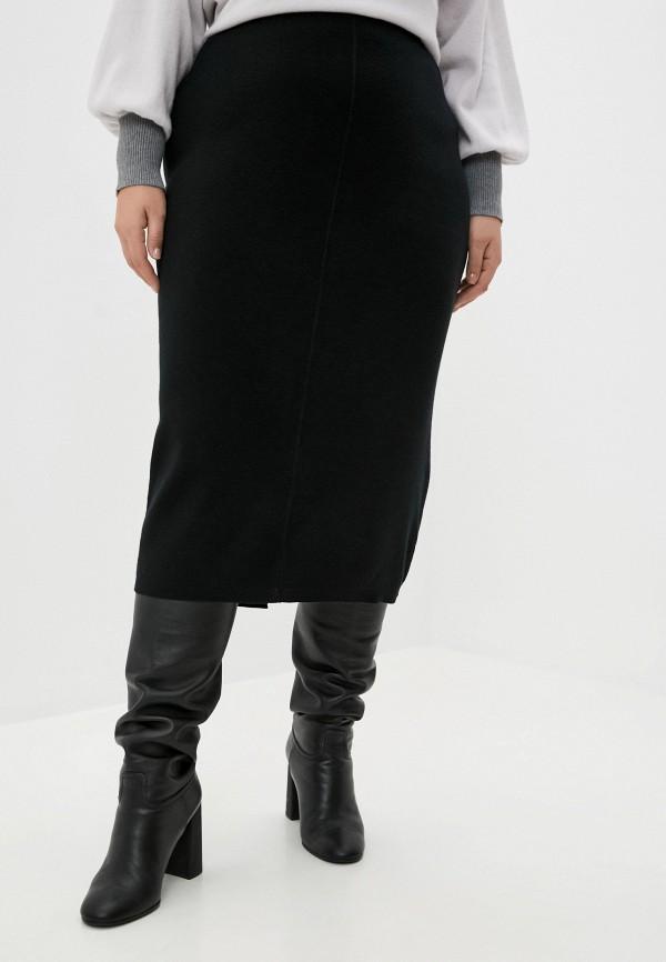 женская прямые юбка seventy, черная