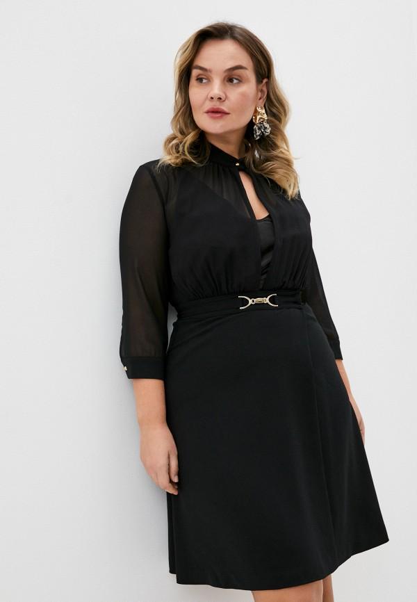женское повседневные платье seventy, черное