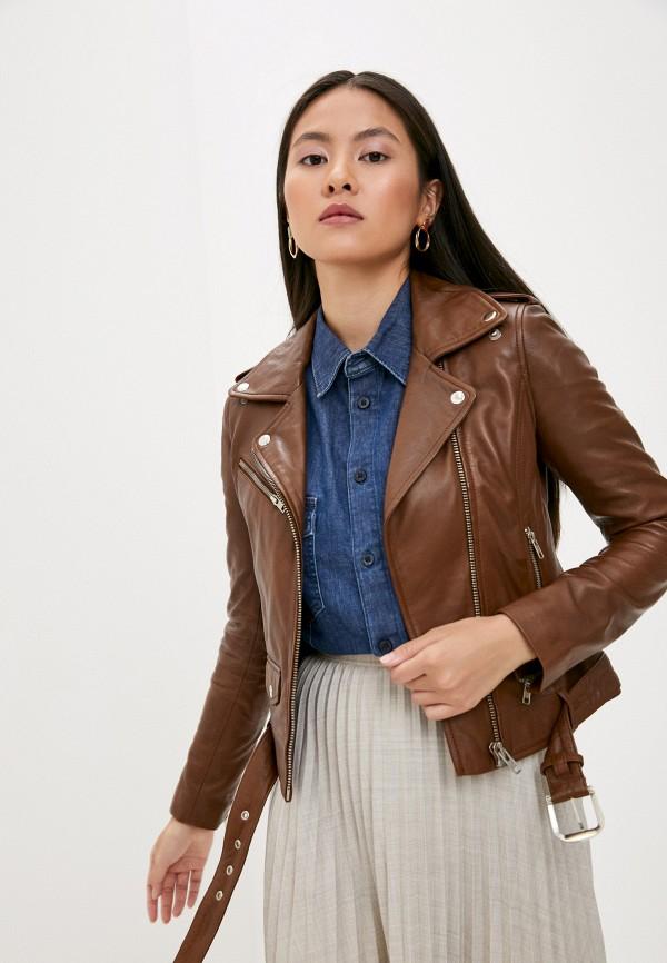 женская куртка serge pariente, коричневая