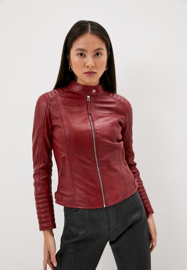 женская куртка serge pariente, бордовая