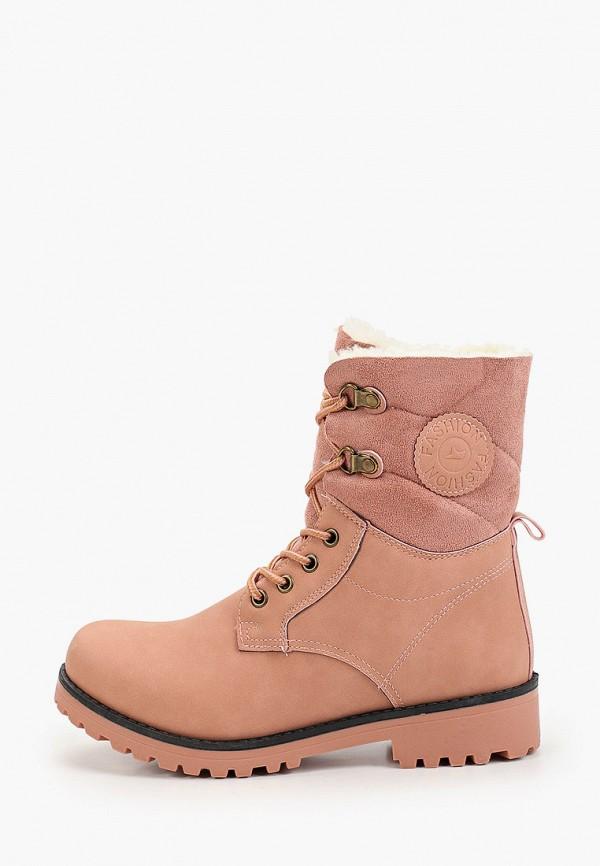 женские ботинки second lady, розовые