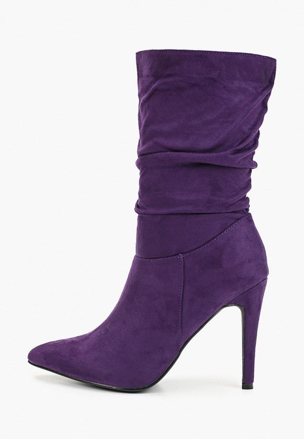 женские полусапожки second lady, фиолетовые