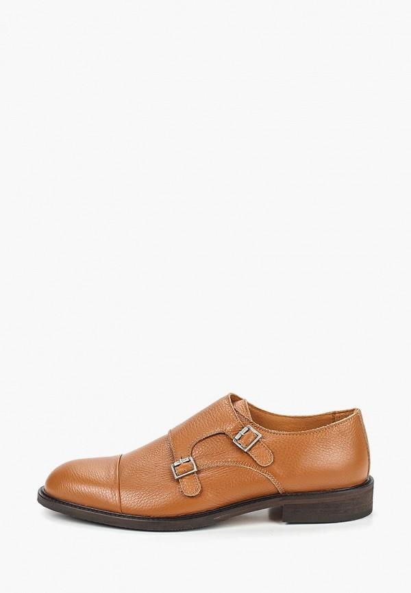 мужские туфли selected homme, коричневые