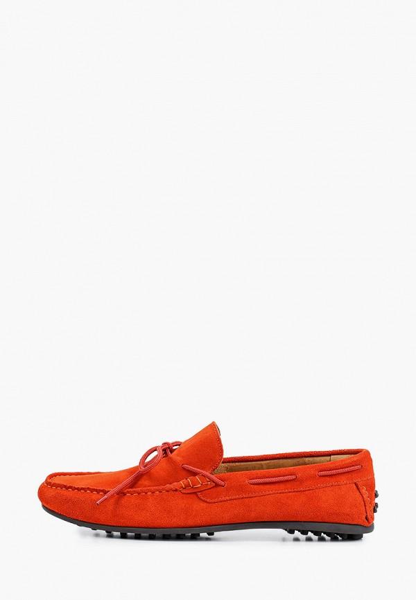 мужские мокасины selected homme, оранжевые