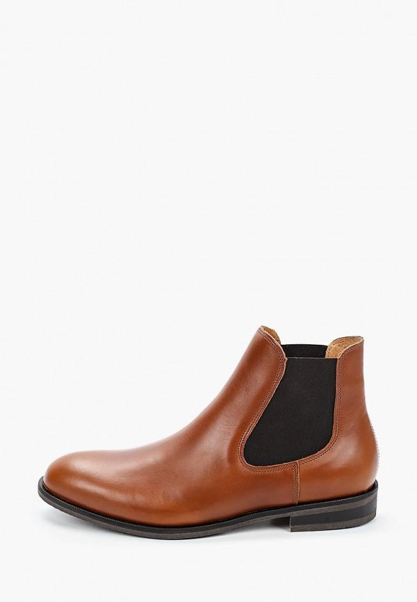 мужские ботинки selected homme, коричневые