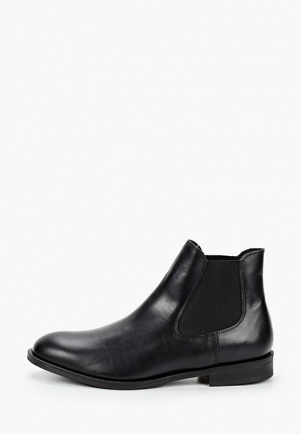 мужские ботинки-челси selected homme, черные