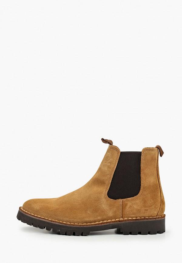 мужские ботинки selected homme, бежевые