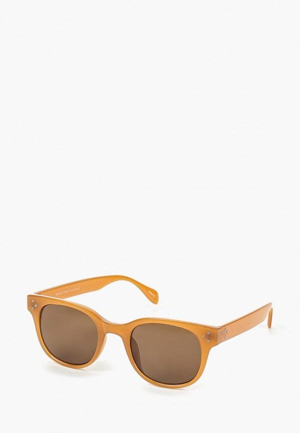 мужские солнцезащитные очки selected homme, коричневые