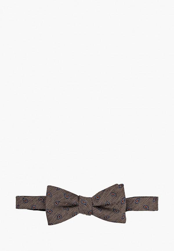 мужские галстуки и бабочки selected homme, коричневые