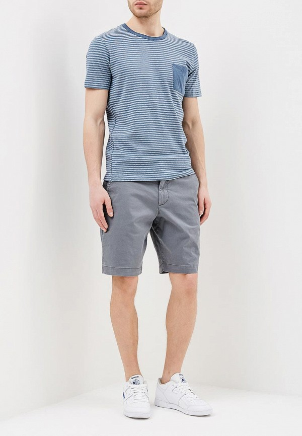 Фото 2 - мужскую футболку Selected Homme синего цвета