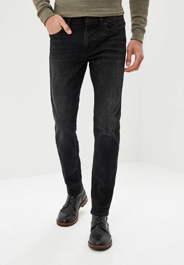 мужские зауженные джинсы selected homme, черные