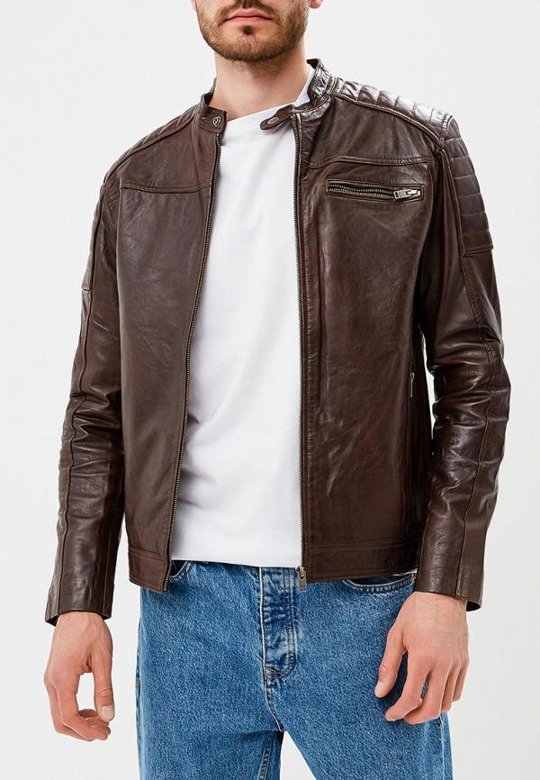 Купить Куртка кожаная Selected Homme, SE392EMBXVC9, коричневый, Осень-зима 2018/2019