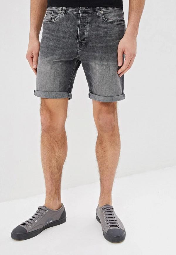 мужские джинсовые шорты selected homme, серые