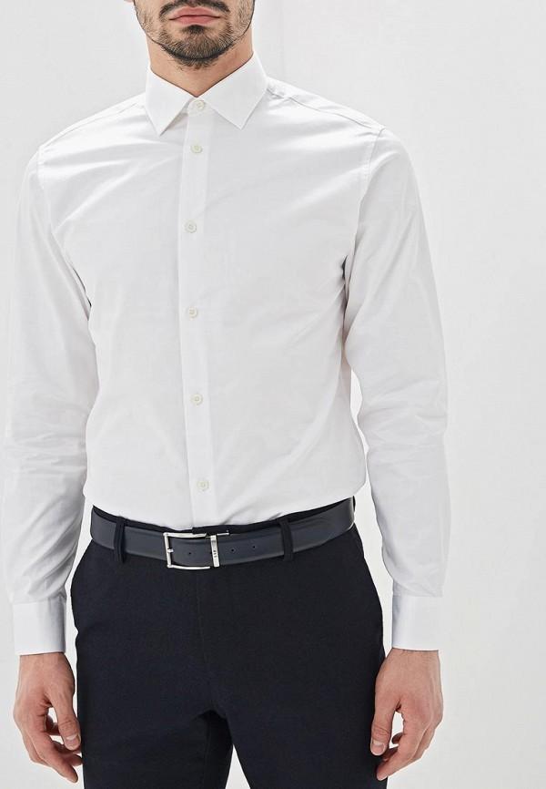 мужская рубашка с длинным рукавом selected homme, белая