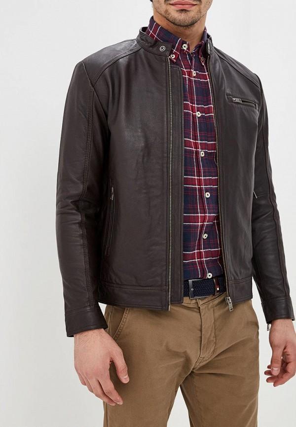мужская куртка selected homme, коричневая