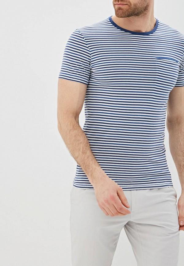 мужская футболка с коротким рукавом selected homme, синяя