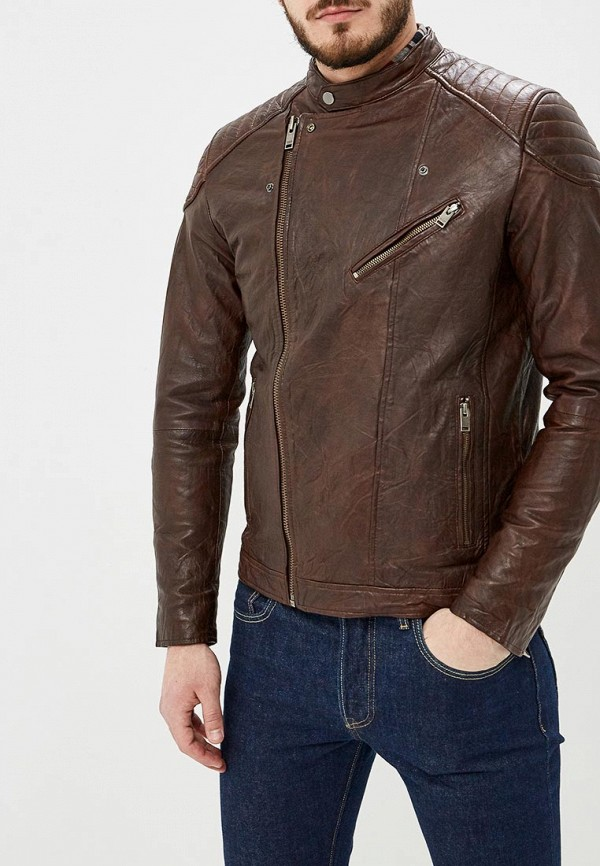 Куртка кожаная Selected Homme Selected Homme SE392EMEDVP6 solid homme куртка