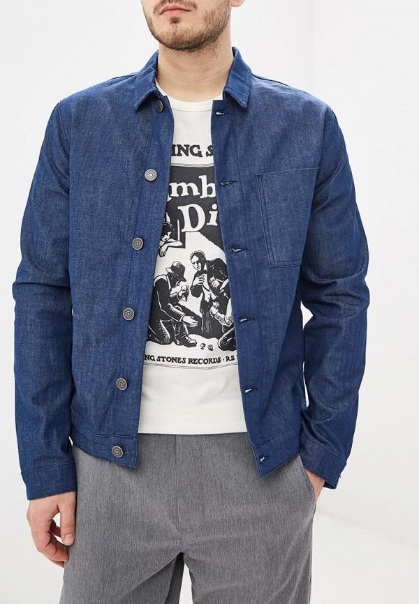 мужская джинсовые куртка selected homme, синяя
